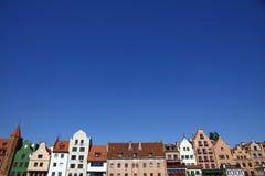 Stad av Gdansk (Danzig), Polen Arkivfoton