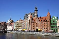 Stad av Gdansk (Danzig), Polen Arkivfoto