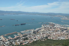Stad av Gibraltar, hamnen Royaltyfri Fotografi