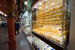 Stad av guld i Dubai Arkivbild