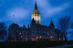 Stad av Hartford Connecticut Arkivbild