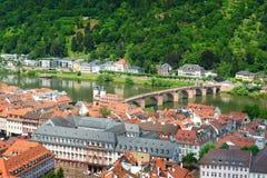 Stad av Heidelberg. Tyskland Arkivbild