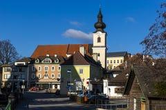 Stad av Heidenreichstein, Österrike royaltyfri fotografi