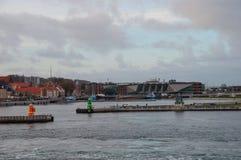 Stad av Helsingor i Danmark royaltyfria foton