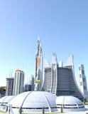 Stad av i morgon Royaltyfria Foton