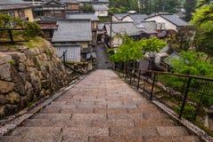 Stad av Itsukushima Royaltyfria Foton