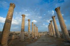 Stad av Jerash, Jordanien Arkivbild