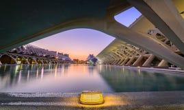 Stad av konster, modern byggnad i Valencia Fotografering för Bildbyråer