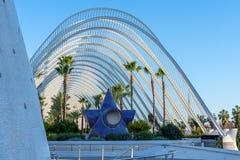 Stad av konster och vetenskaper i Valencia Spain på Februari 25 royaltyfria foton
