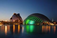 Stad av konster och vetenskaper i Valencia - Spanien royaltyfria foton