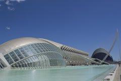 Stad av konster och vetenskaper på middagen i Valencia, Spanien royaltyfri foto