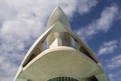 Stad av konster och vetenskaper, - palauisk de les Konst Reina SofÃa - en operahus och kulturbyggnad vid Calatrava, Valencia, Spa arkivbild