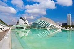 Stad av konster och vetenskaper - Valencia Spain arkivfoton
