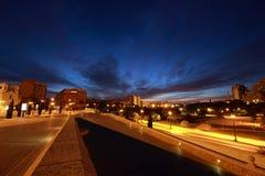 Stad av konster och vetenskaper, Valencia, Spanien arkivbild