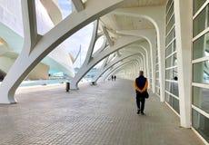 Stad av konster och vetenskaper, Valencia, Spanien royaltyfri foto