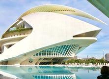 Stad av konster och vetenskaper, Valencia, Spanien fotografering för bildbyråer