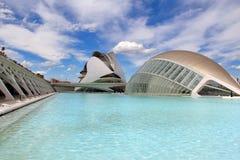 Stad av konster och vetenskaper, Valencia, Spanien Arkivbilder