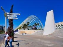 Stad av konster och vetenskaper, Valencia, Spanien arkivfoto