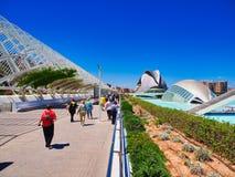 Stad av konster och vetenskaper, Valencia, Spanien arkivfoton