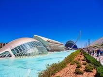 Stad av konster och vetenskaper, Valencia, Spanien royaltyfri fotografi