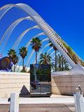 Stad av konster och vetenskaper, Valencia, Spanien royaltyfri bild