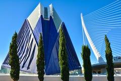 Stad av konster och vetenskapsmuseum i Valencia arkivfoton