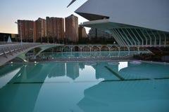Stad av konster och vetenskapsmuseum i Valencia royaltyfri bild