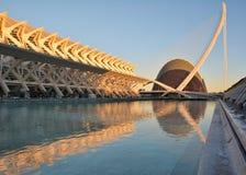 Stad av konster och vetenskapsmuseum i Valencia arkivbilder