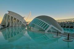 Stad av konster och vetenskapsmuseum i Valencia royaltyfri fotografi