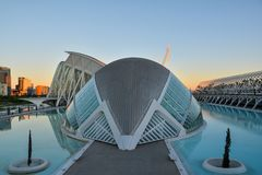 Stad av konster och vetenskapsmuseum i Valencia royaltyfri foto