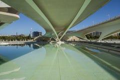 Stad av konster och vetenskapsmuseum i Valencia arkivbild