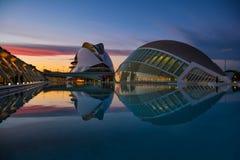 Stad av konster och vetenskapsmuseum i Valencia fotografering för bildbyråer