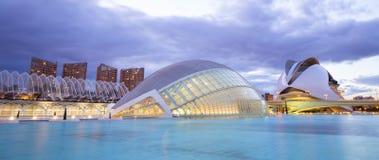 Stad av konsterna och vetenskaperna i Valencia, Spanien Arkivfoto