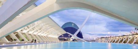 Stad av konsterna och vetenskaperna i Valencia, Spanien Arkivbild