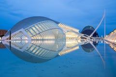 Stad av konsterna och vetenskaperna i Valencia, Spanien Arkivfoton