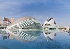 Stad av konsterna och vetenskaperna Valencia, Spanien Royaltyfri Foto
