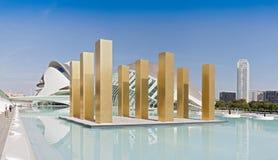 Stad av konsterna och vetenskaperna Valencia, Spanien Arkivfoton