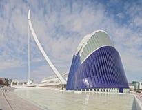 Stad av konsterna och vetenskaperna Valencia, Spanien Arkivbilder