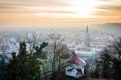 Stad av Kralupy nad Vltavou arkivbilder