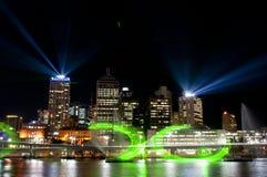 Stad av lampor, Brisbane, Australien Arkivfoton