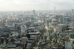 Stad av London den flyg- sikten Royaltyfria Foton