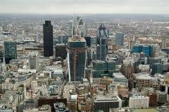 Stad av London från över Arkivbilder