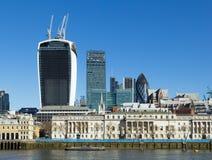 Stad av London från söderna Fotografering för Bildbyråer