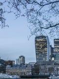 Stad av London, moderna glass byggnader Arkivfoton