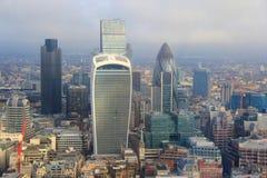 Stad av London skyskrapor Royaltyfri Fotografi