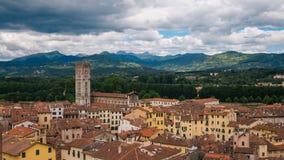 Stad av Lucca i Italien arkivbild
