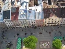 Stad av Lviv Arkivfoto