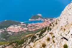 Stad av Makarska Royaltyfri Fotografi