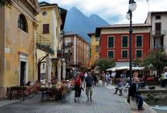 Stad av Malcesine, Italien Arkivfoton
