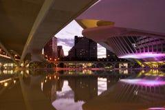 Stad av moderna byggnader för konster och för vetenskaper, Valencia, Spanien, Europa royaltyfri fotografi